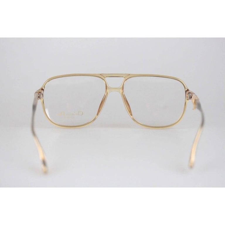 Christian Dior Monsieur Vintage Honey Frame Eyeglasses 2453 60mm 140 NOS In Excellent Condition For Sale In Rome, Rome