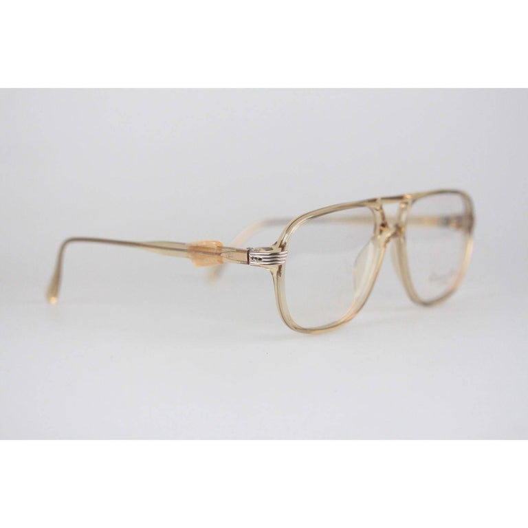 Brown Christian Dior Monsieur Vintage Honey Frame Eyeglasses 2453 60mm 140 NOS For Sale