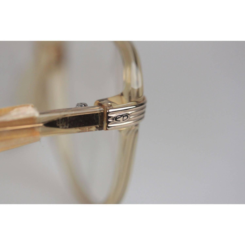 cea1b5ad3060 Christian Dior Monsieur Vintage Honey Frame Eyeglasses 2453 60mm 140 NOS  For Sale at 1stdibs