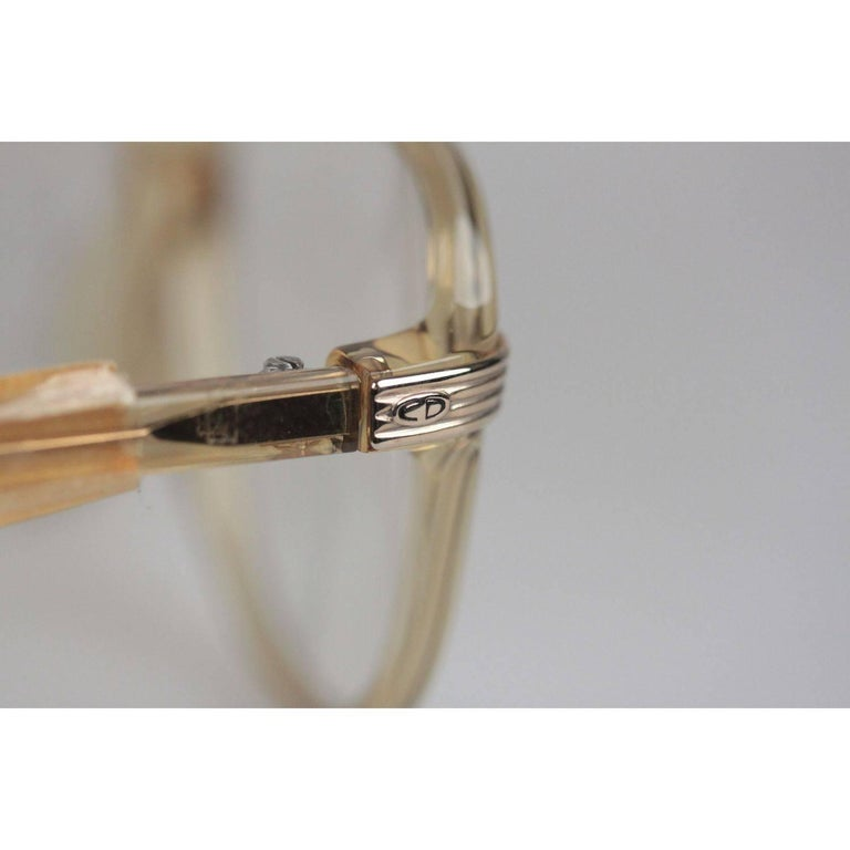 Men's Christian Dior Monsieur Vintage Honey Frame Eyeglasses 2453 60mm 140 NOS For Sale