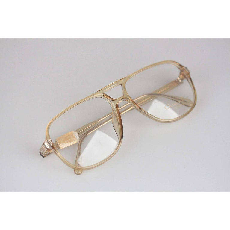 Christian Dior Monsieur Vintage Honey Frame Eyeglasses 2453 60mm 140 NOS For Sale 3