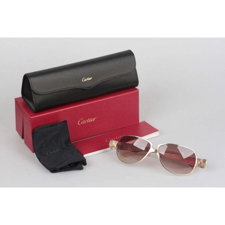 4e46fe7d2b9a CARTIER Paris EDITION C de CARTIER T8200724 Gold Beige Leather ...