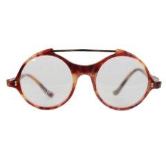 Gianni Versace Vintage Eyeglasses Round Frame MOD 530 COL 950 45mm