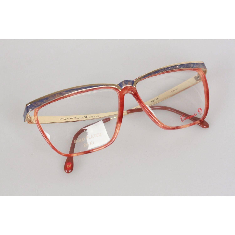c2e6fe5744 Casanova Vintage Gold Plated Italian Eyeglasses CN 21 52mm For Sale at  1stdibs