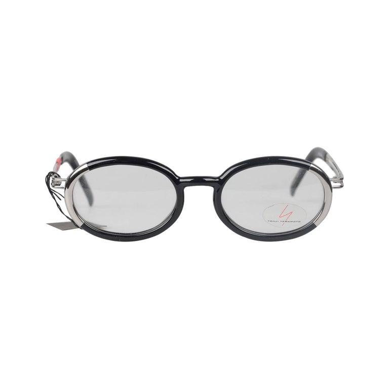 a18ed7bd09 Yohji Yamamoto Vintage Eyeglasses Black Frame 51-5201 49mm 135 NOS For Sale  at 1stdibs