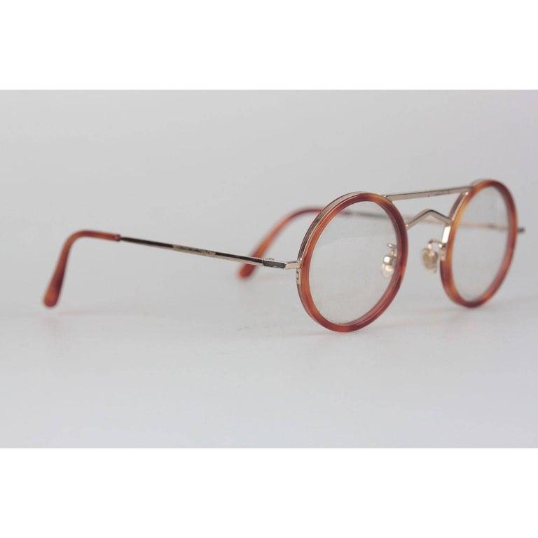 Women's or Men's Gianni Versace Vintage Round Tortoise Frame Mod. 620 Col. 943 Eyeglasses For Sale