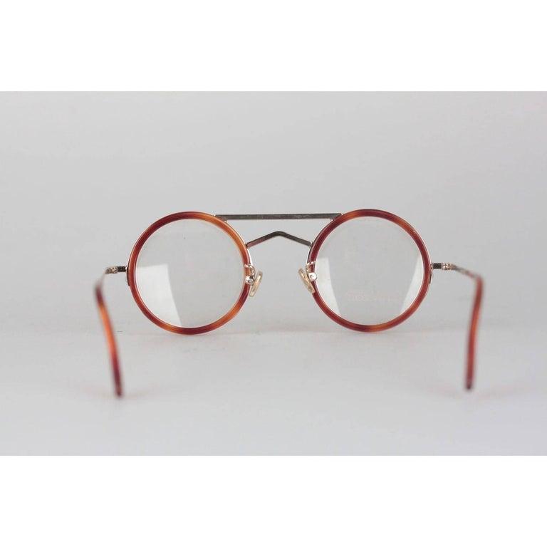 Gianni Versace Vintage Round Tortoise Frame Mod. 620 Col. 943 Eyeglasses For Sale 1