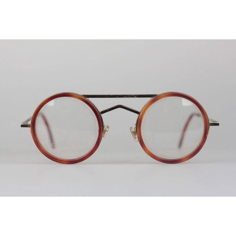 Gianni Versace Vintage Round Tortoise Frame Mod. 620 Col. 943 Eyeglasses In New Condition For Sale In Rome, Rome