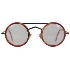Gianni Versace Vintage Round Tortoise Frame Mod. 620 Col. 943 Eyeglasses