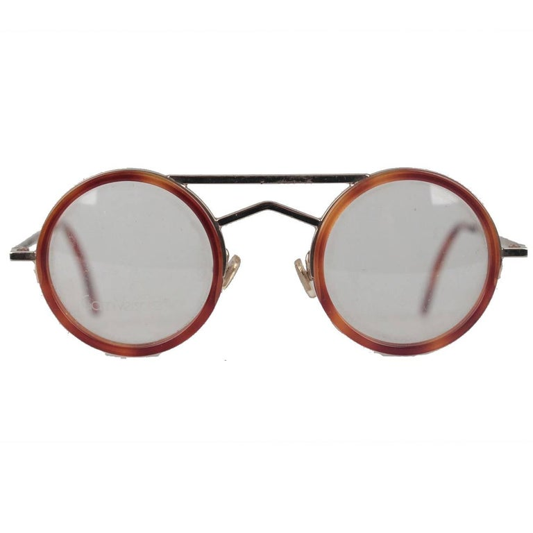 d1e8c1ae44 Gianni Versace Vintage Round Tortoise Frame Mod. 620 Col. 943 Eyeglasses  For Sale at 1stdibs