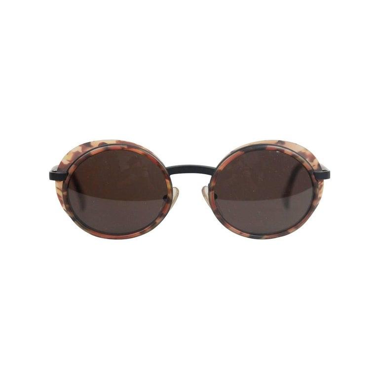 de2951402fe Alain Mikli Paris Vintage Brown Sunglasses 3124 01043 Side Shields NOS For  Sale at 1stdibs