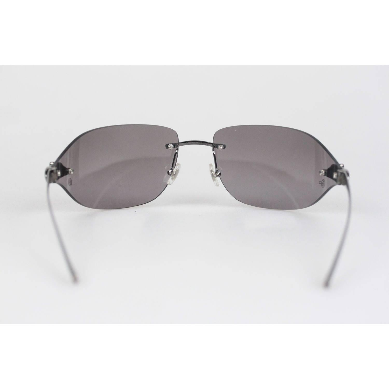 f3b212fca976 Cartier Paris Panthere Rimless Sunglasses T8200882 110mm For Sale at 1stdibs
