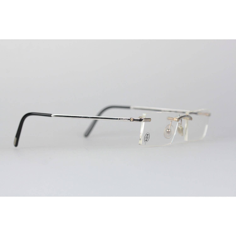 847f78c96bee2 Cartier Paris Rimless Eyeglasses T-Eye T8100716 Titanium 51-17 140mm NOS For  Sale at 1stdibs