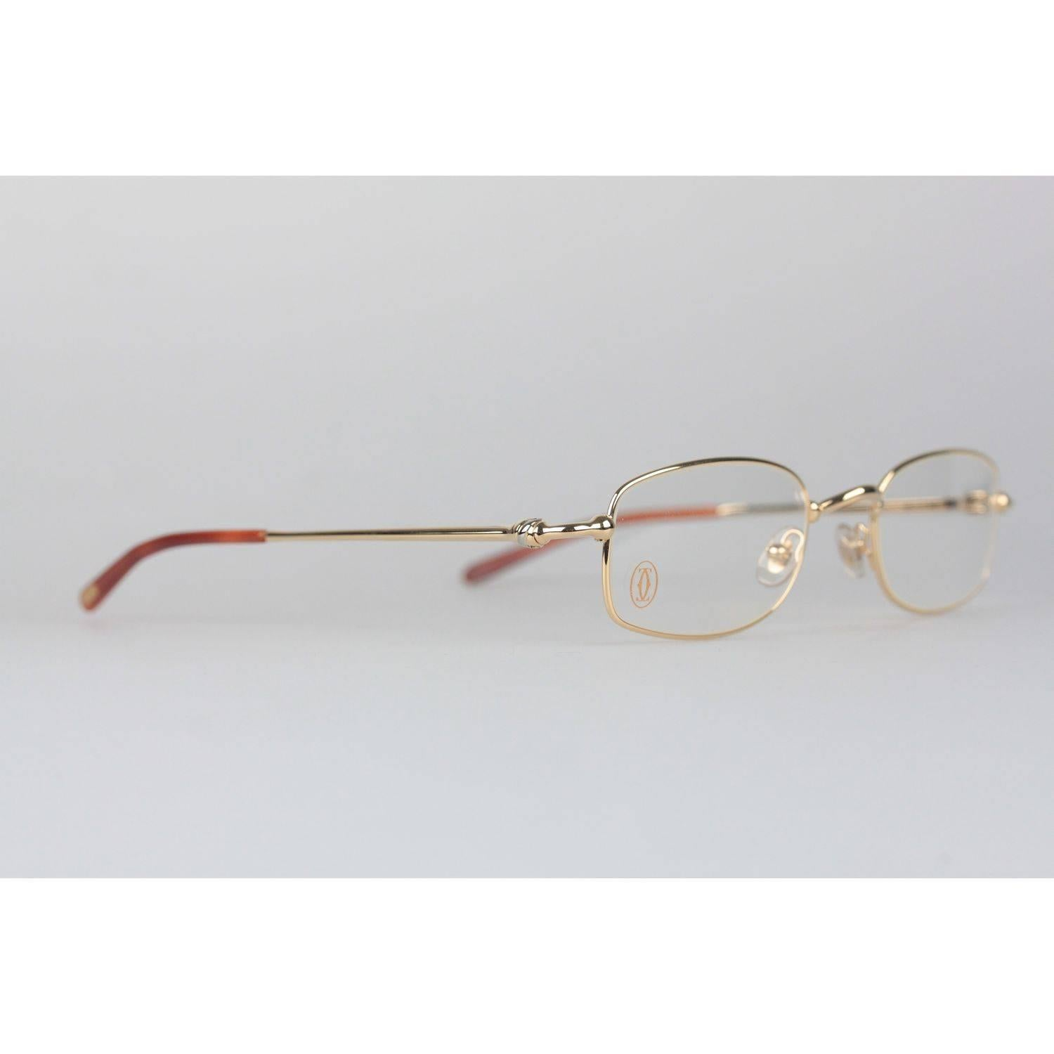 Cartier Paris Sasdir Gold Full Rimmed Eyeglasses T8100586 49-21 ...