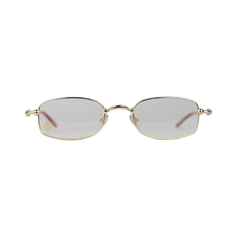 Cartier Paris Sasdir Gold Full Rimmed Eyeglasses T8100586 49-21 135mm