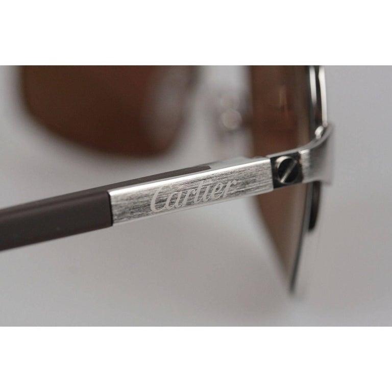 2c45e653e95f4 CARTIER Paris Sunglasses Aviator NEIL T8200716 Polarized 59-18 125 NOS For  Sale 1