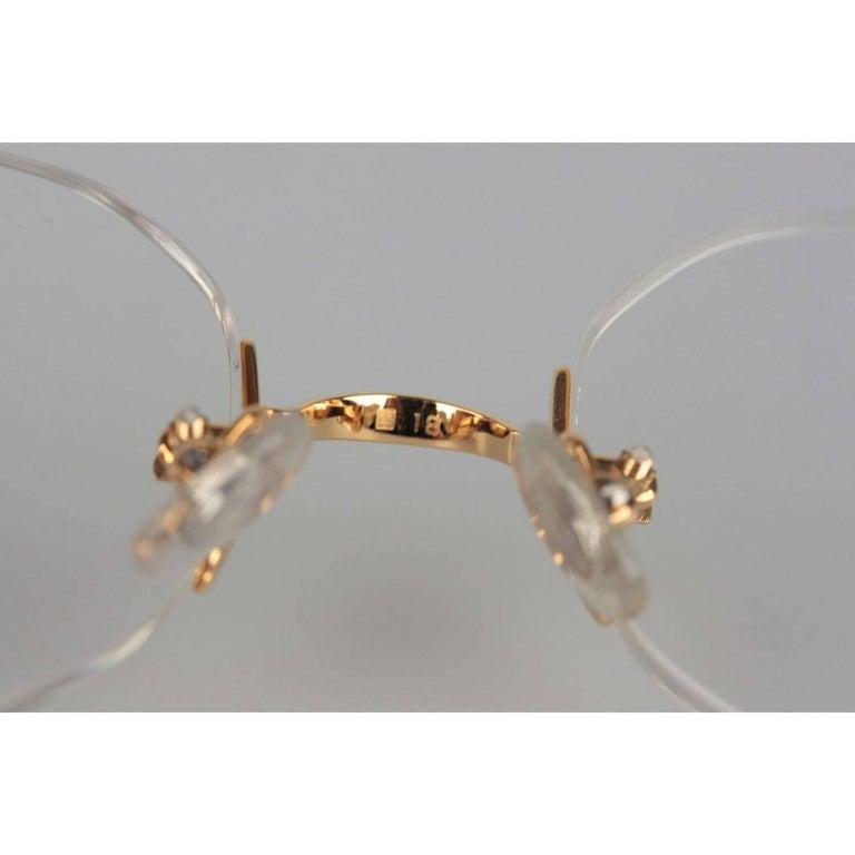 469206dd822 CARTIER Paris Vintage Eyeglasses CHELSEA Gold Rimless Frame 130 Nos For Sale  6
