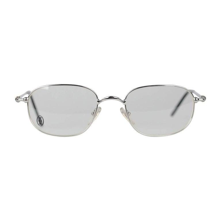 CARTIER Paris Vintage Eyeglasses VESTA Silver Frame T8100494 130 Nos