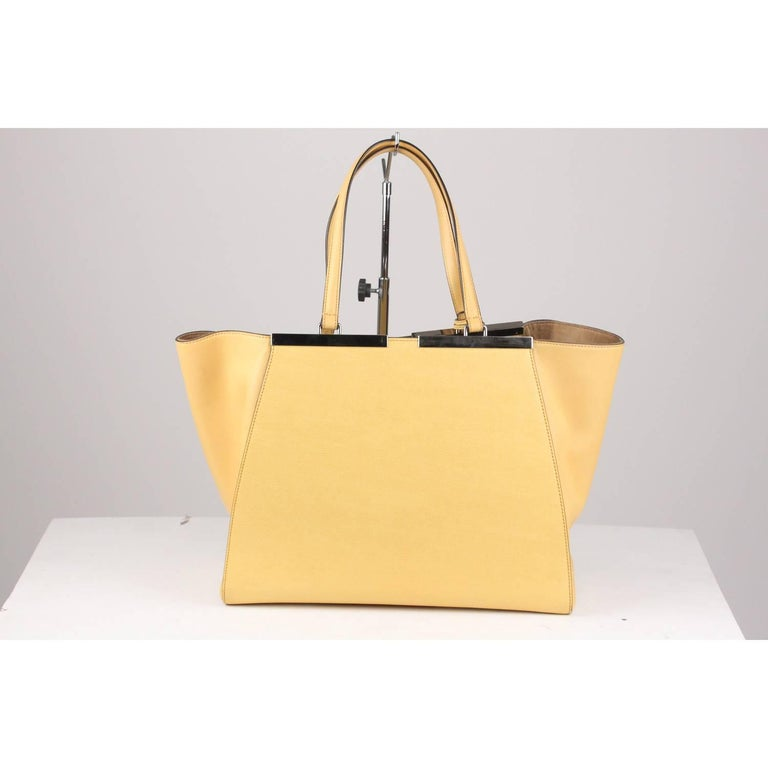 FENDI Cream Leather Large 3Jours Tote Shopping Bag 2
