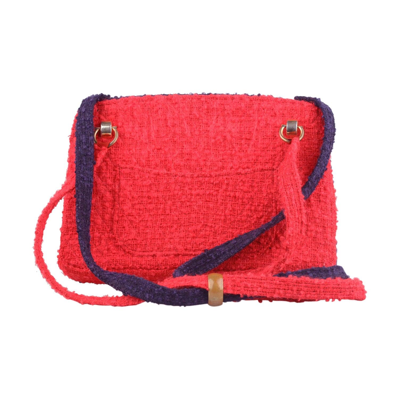 e7ea53e874fb CHANEL Vintage Unique Prototype Red Blue Wool Tweed 1960s Shoulder Bag For  Sale at 1stdibs
