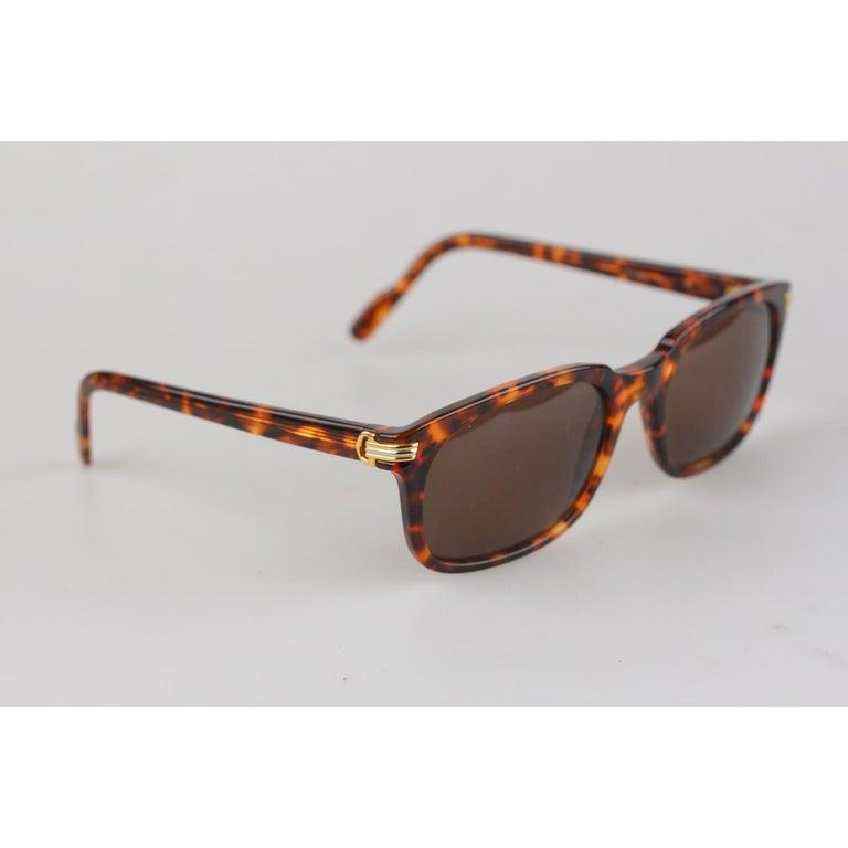 8f81c292c2c Beige Cartier Paris Vintage Brown Sunglasses Sunset T8200181 New Old Stock  For Sale