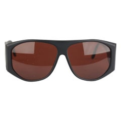 L.G.R. Matt Black Sunglasses Mod Carthago Polarized Lens New Old Stock