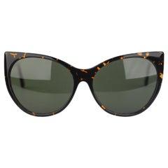 L.G.R. Matt Brown Sunglasses Mod Carthago Polarized Lens New Old Stock