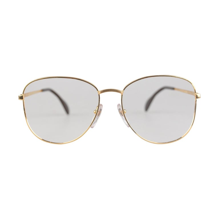 582900d510 Vogue D Or by Bausch and Lomb 1 20 10K GF White Gold Sunglasses Mod. 516  For Sale at 1stdibs