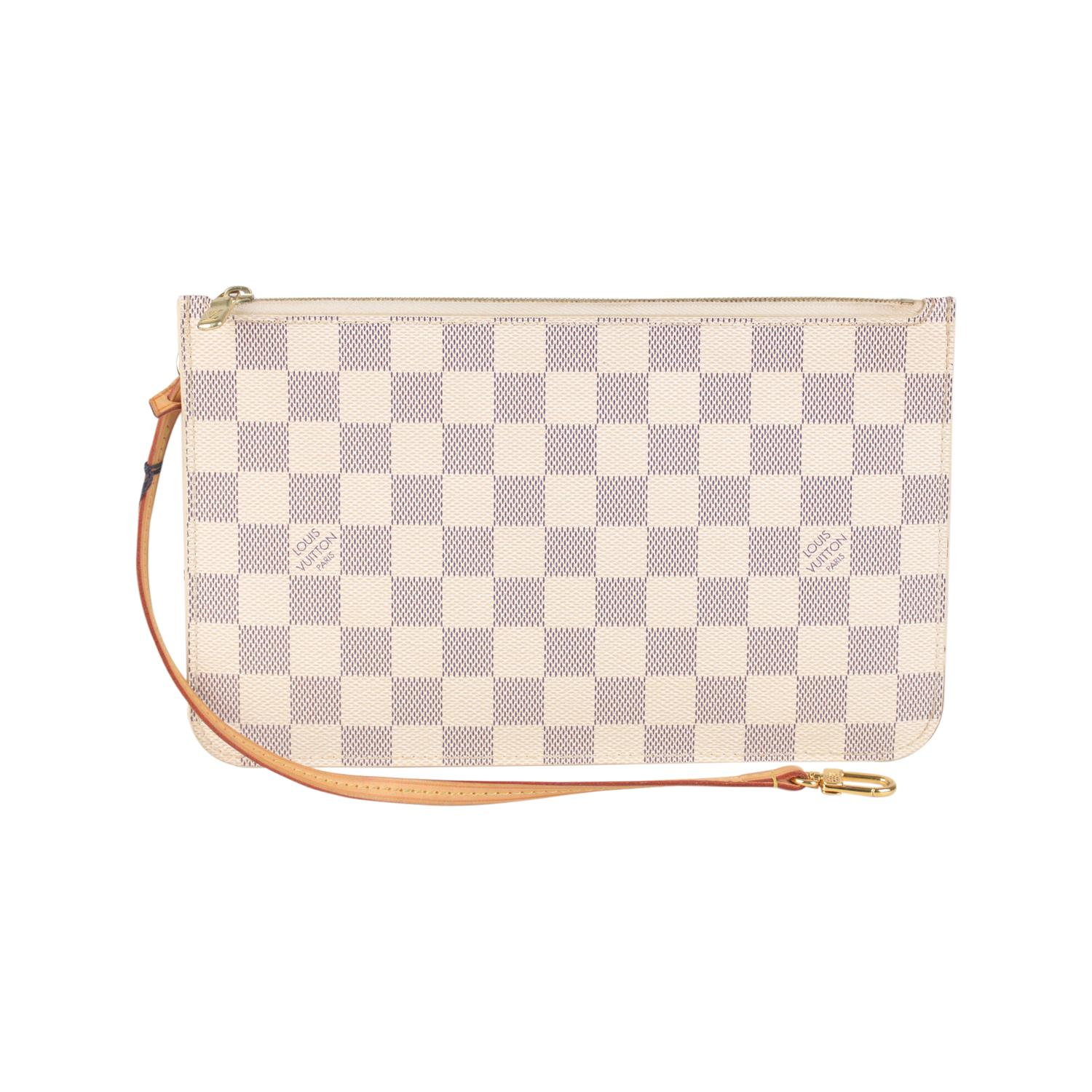 dd829e92282 Louis Vuitton Damier Azur Canvas Pouch For Neverfull MM GM For Sale at  1stdibs