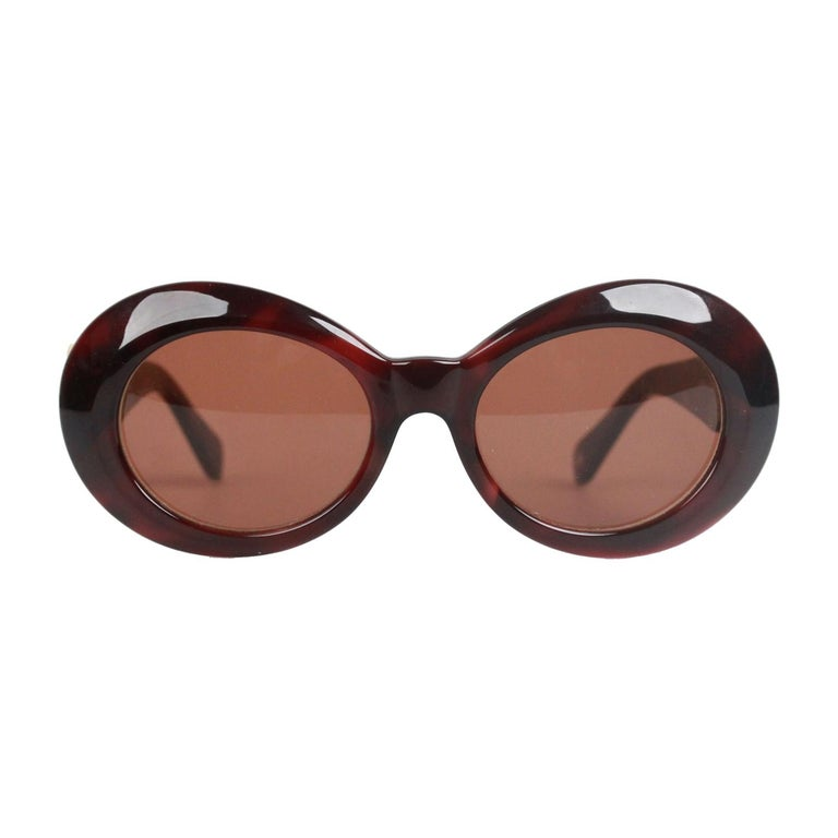 a18724895 Authentic Versace Brown Sunglasses Mod 418 Col 900 Gold Medusa For Sale