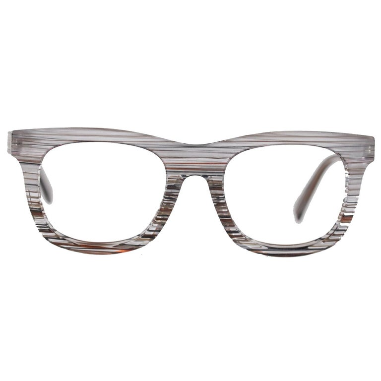 145ccf2266 Alain Mikli Eyeglasses Striped Pattern Mod. A01348 54mm Never Worn For Sale  at 1stdibs