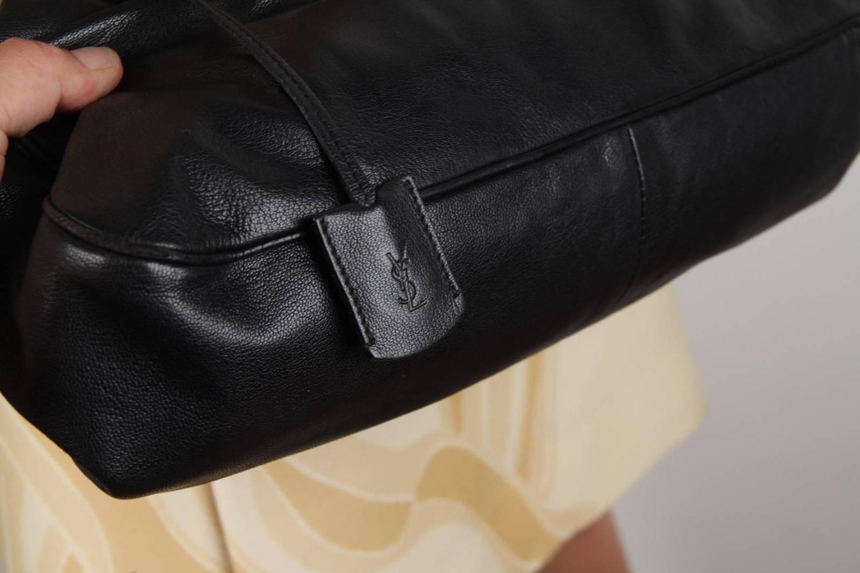 YVES SAINT LAURENT Black Leather MUSE Soft Doctor Bag TOTE Bowler ...