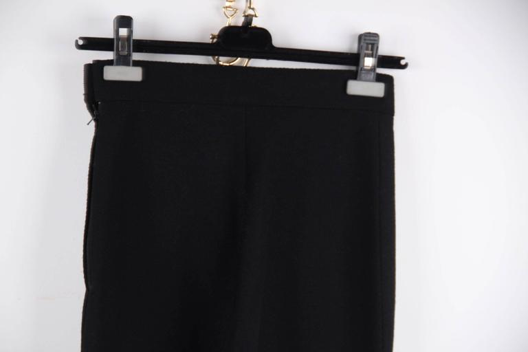 CHANEL Vintage Black Wool Blend HIGH WAIST Slim Fit TROUSERS Pants SIZE 36 FR For Sale 2
