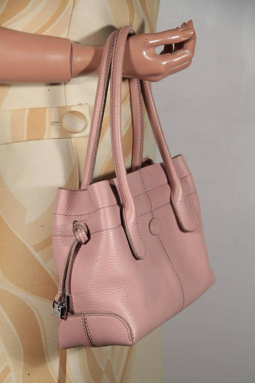 TOD'S Italian Pink Pebbled Leather Small NEW D BAG Handbag ...