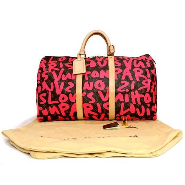 Louis Vuitton Monogram Graffiti Keepall 50 6