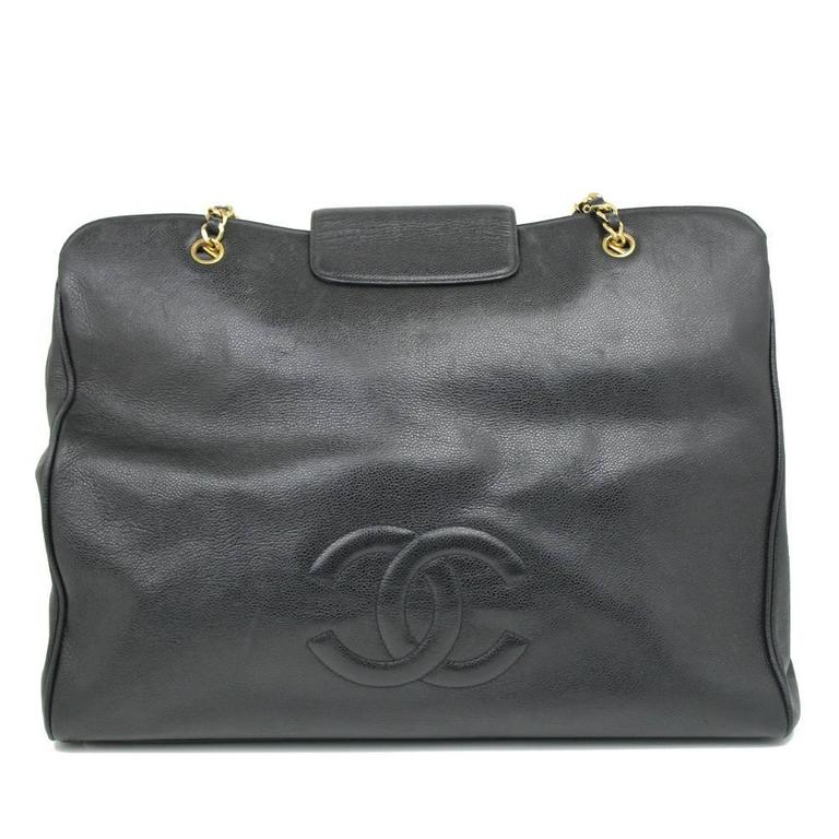 Chanel Caviar Skin Overnighter / Weekender Bag 3