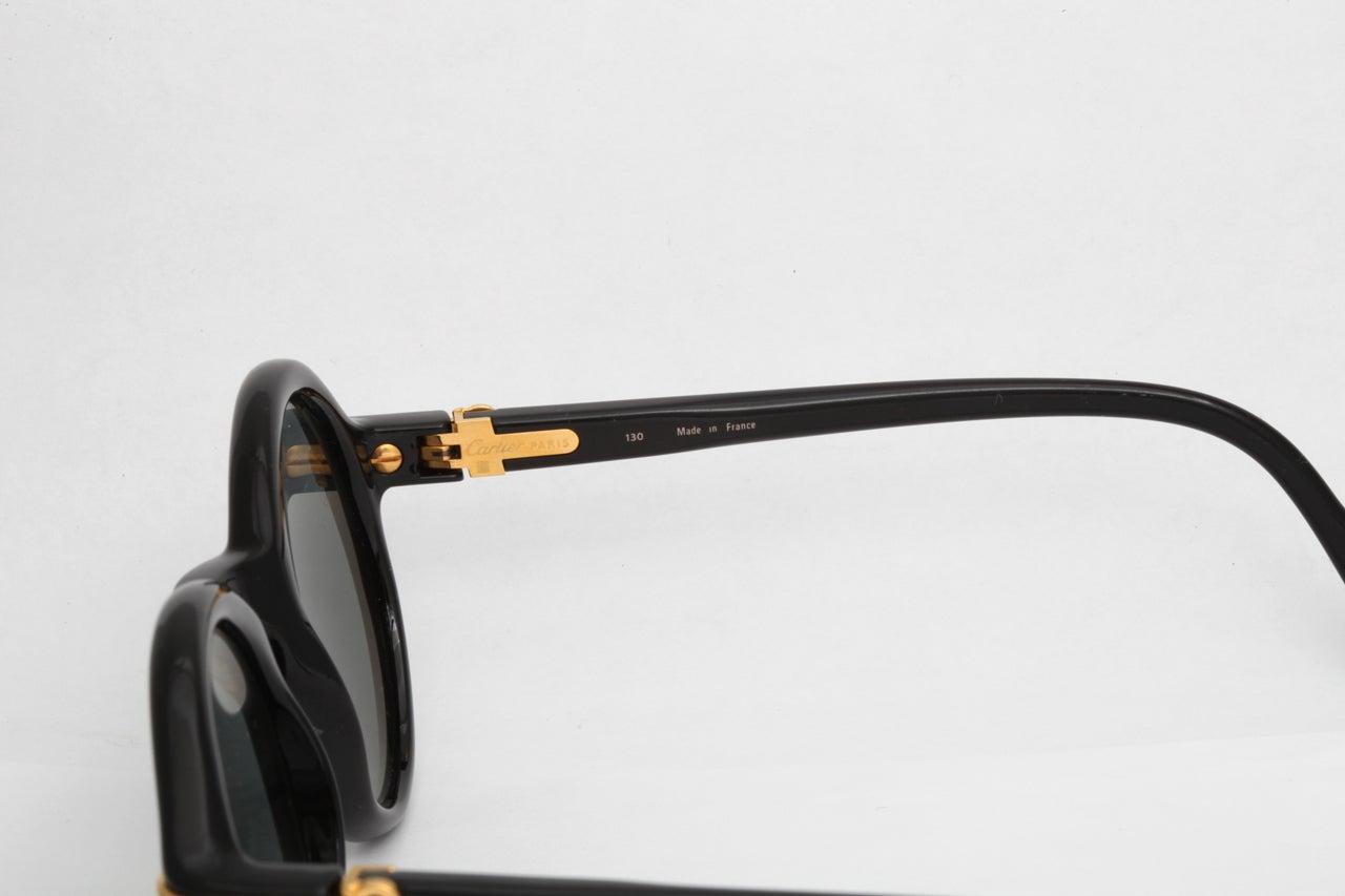 91031744cc Cartier Vintage Black Cabriolet Sunglasses For Sale at 1stdibs