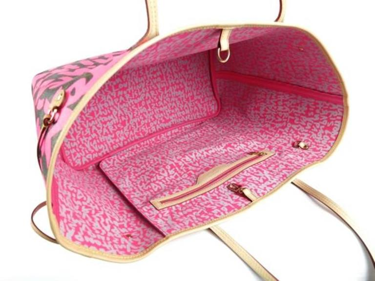 Louis Vuitton Pink Graffiti Neverfull GM Stephen Sprouse 3