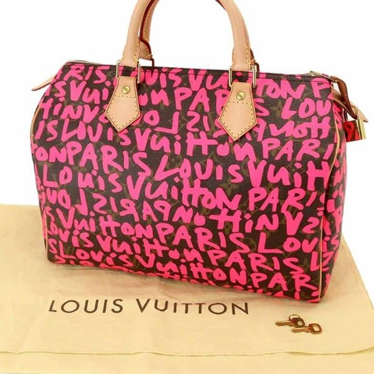 Extremely rare Louis Vuitton graffiti speedy 30, inspired by Stephen Sprouse. Designed by Marc Jacobs.