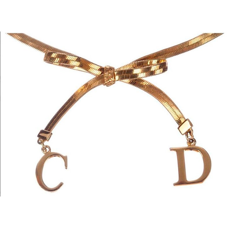 Christian Dior Bow Choker Necklace 2