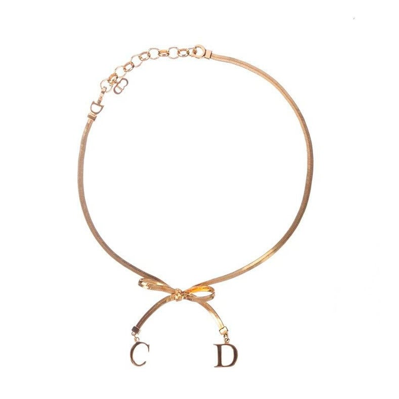 Christian Dior Bow Choker Necklace 1