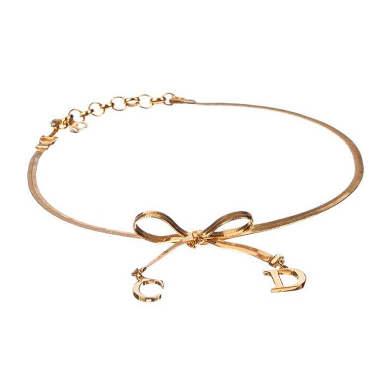 Christian Dior Bow Choker Necklace 3