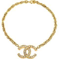Chanel Large CC Rhinestone Necklace