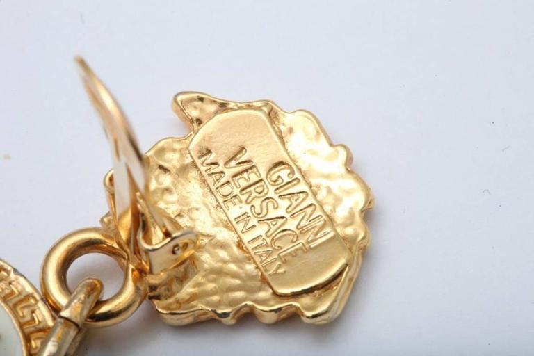 Gianni Versace Medusa Black/Gold Earrings 6