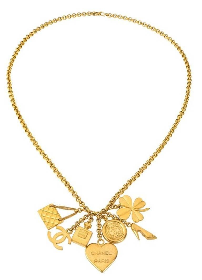 Women's or Men's Chanel 7 Lucky Charm Necklace For Sale