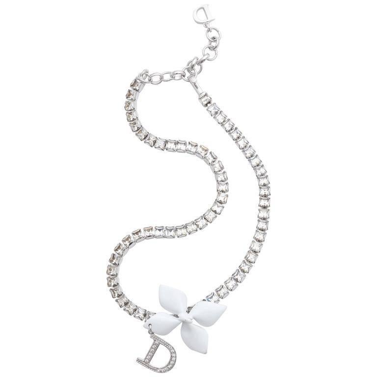 Dior by John Galliano Rhinestone Choker Necklace  For Sale