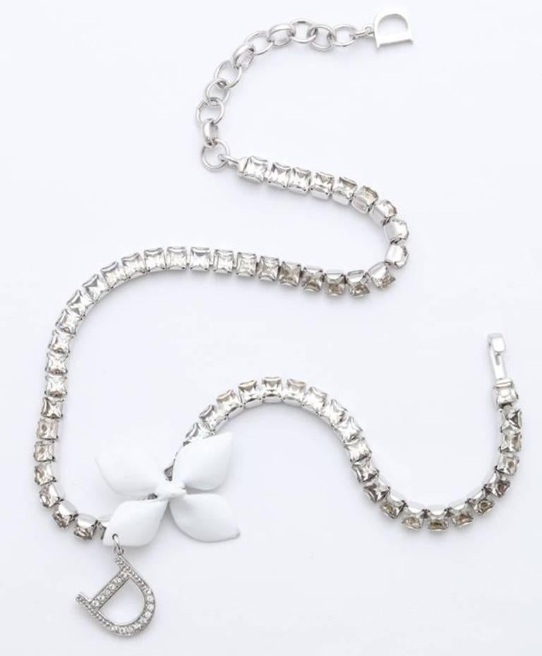Dior by John Galliano Rhinestone Choker Necklace  In Good Condition For Sale In Chicago, IL