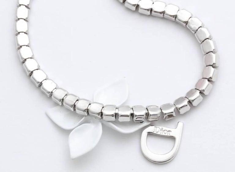 Dior by John Galliano Rhinestone Choker Necklace  For Sale 1