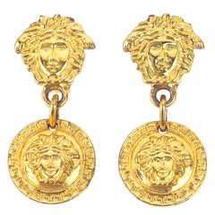 Gianni Versace Medusa Earrings Gold