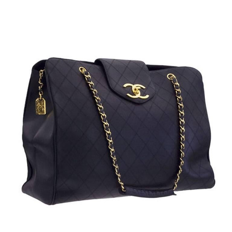 Chanel Quilted Overnight Bag